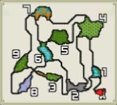 モンハン渓流マップ