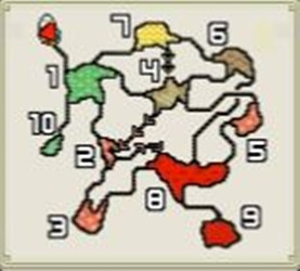 モンハン地底火山マップ