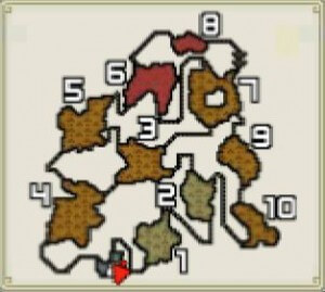 モンハン火山マップ