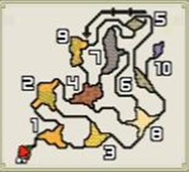 モンハン遺跡平原マップ