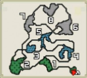 モンハン雪山マップ
