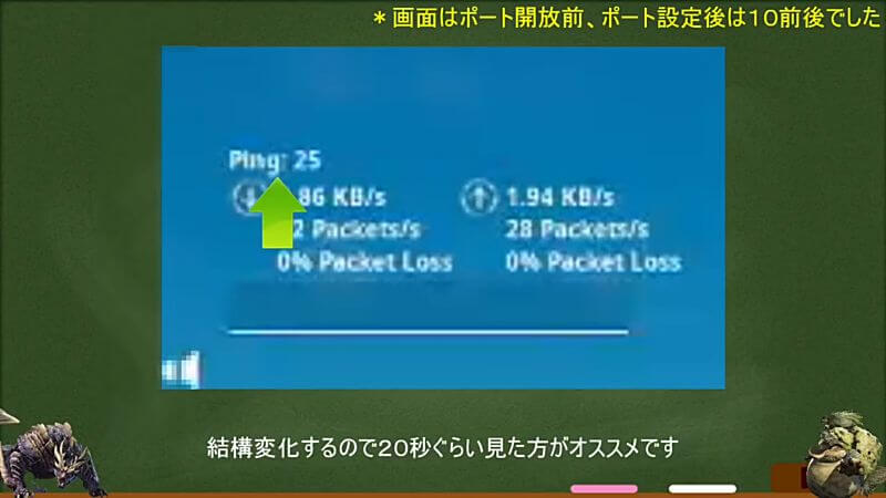 switch 動画第4弾 ポート開放手順 SwitchでPING値計測